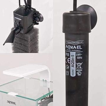 Aquael Aquarium Shrimp Set SMART LED, komplett Set mit morderner LED-Beleuchtung (weiß, 20 Liter) -