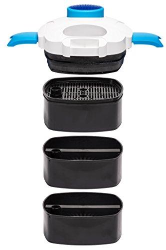 Aquaflow Technology® SuperAEF-302 -3 Stufen Außenfilter für Aquarien bis zu 75 (Gallonen) 400 Liter (für Süß- oder Salzwasser). Freie Filtermedien sind im Preis inbegriffen -