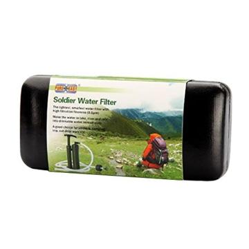 Eizur Tragbare Wasserfilter 2000L Wasser Reiniger Luftreiniger Wasseraufbereiter Wasseraufbereitung für Outdoor Survival Wandern Camping Angeln Jagd Reise Trekking Notfall -