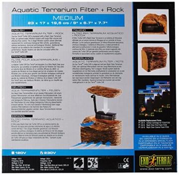 Exo Terra PT3650 Turtle Cliff klein mit Filter PT3610 -
