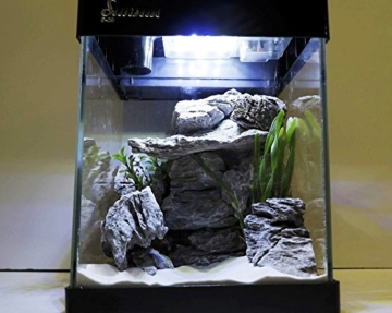 Nano Aquarium G-20 in schwarz Komplettaquarium Mini +LED Beleuchtung -