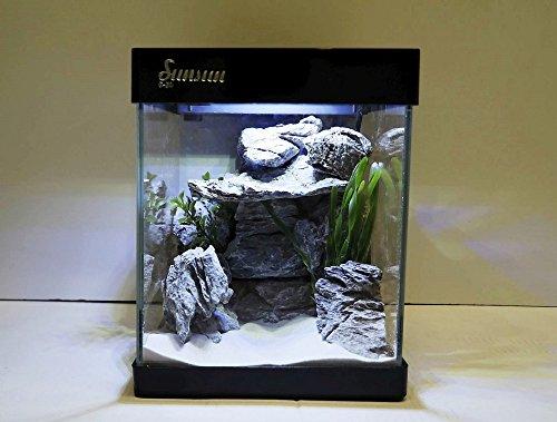 nano aquarium g 20 in schwarz komplettaquarium mini led beleuchtung ii ii 2017. Black Bedroom Furniture Sets. Home Design Ideas