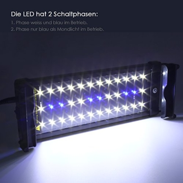 simbr aquarium beleuchtung lampe led aufsetzleuchte schwarz 30 50cm ii ii 2017. Black Bedroom Furniture Sets. Home Design Ideas