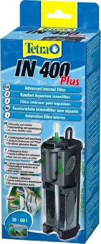 Tetra IN 400 plus  Innenfilter (zur biologischen und chemischen Filterung, stufenlose Regulierung der Durchflussgeschwindigkeit, geeignet für Aquarien mit 30 - 60 Liter) -