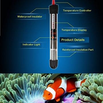 Anself Tauchpumpe Heizung Heizstab f¨¹r Aquarium Glas Tank von Fisch Temperatureinstellung von 220-240V 100w -