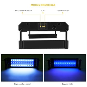 Deckey Aquarium Beleuchtung LED Aquariumlicht Aquariumleuchten Aquariumlampen Aufsetzleuchte 30cm weiß+blau (30cm) -