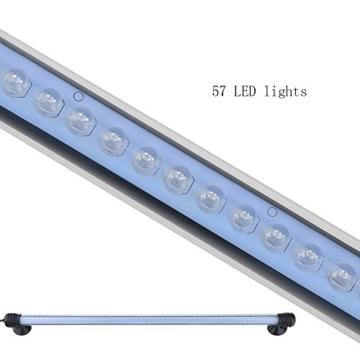 G-Lighting® Aquarium LED Beleuchtung Leuchte Lampe 57 LEDs 4W 48CM Lighting für Fisch Tank, EU Stecker Blaulicht Wasserdicht -