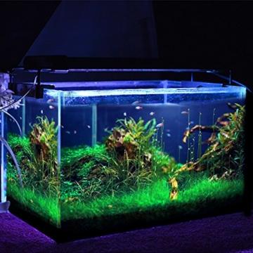 SIMBR Aquarium beleuchtung Lampe LED Aufsetzleuchte Schwarz (30-50cm) -