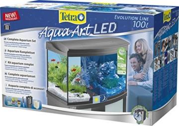 Tetra AquaArt Evolution Line LED Aquarium-Komplett-Set 100 Liter anthrazit (moderne LED Beleuchtung, integrierte Tag-Nachtlichtschaltung, gebogene Frontscheibe) -