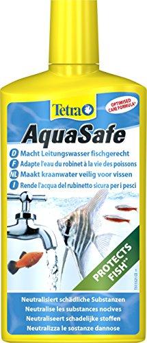 Tetra AquaSafe (Qualitäts-Wasseraufbereiter für fischgerechtes und naturnahes Aquariumwasser, neutralisiert fischschädliche Stoffe im Leitungswasser), 500 ml Flasche -
