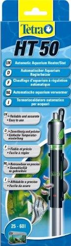 Tetra HT 50 Reglerheizer (leistungsstarker Aquarienheizer zur Abdeckung unterschiedlicher Leistungsstufen mit Temperatureinstellknopf, Heizvorrichtung für Aquarien von 25 bis 60 Liter) -