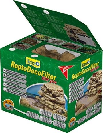 Tetra ReptoDecoFilter RDF 300 (für Aquaterrarien von 20 bis 200 Liter, beseitigt Schmutzpartikel, Wasserfärbungen und Gerüche, sorgt für klares und gesundes Wasser) -
